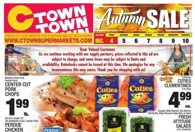 C-Town Weekly Ad Flyer December 4 to December 10