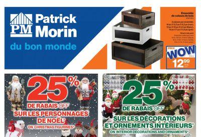 Patrick Morin Flyer December 3 to 9
