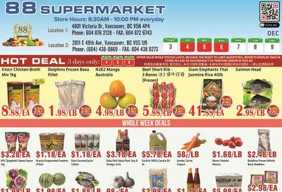 88 Supermarket Flyer December 3 to 9