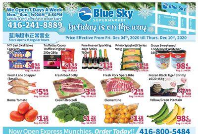 Blue Sky Supermarket (North York) Flyer December 4 to 10