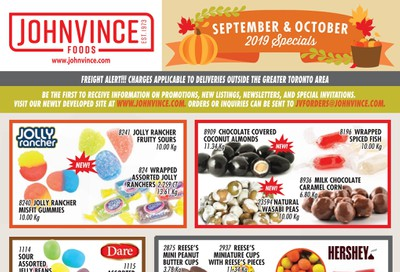 Johnvince Foods Wholesale Specials Flyer September 1 to October 31