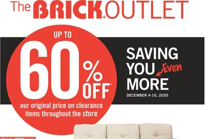 The Brick Outlet Flyer December 4 to 10