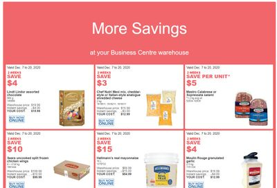 Costco Business Centre Instant Savings Flyer December 7 to 20