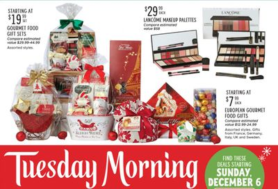 Tuesday Morning Weekly Ad Flyer December 8 to December 15