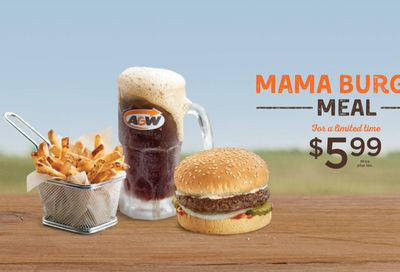 A&W Canada Promotions: Mama Burger Meal for $5.99