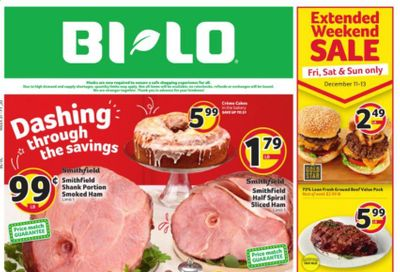 BI-LO Weekly Ad Flyer December 9 to December 15