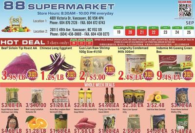88 Supermarket Flyer September 19 to 25