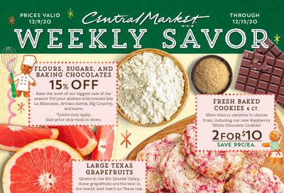 Central Market Holiday Weekly Ad Flyer December 9 to December 15, 2020