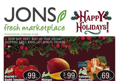 JONS Fresh Marketplace Holiday Weekly Ad Flyer December 9 to December 15, 2020