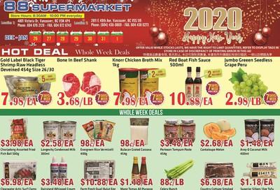 88 Supermarket Flyer December 26 to January 1