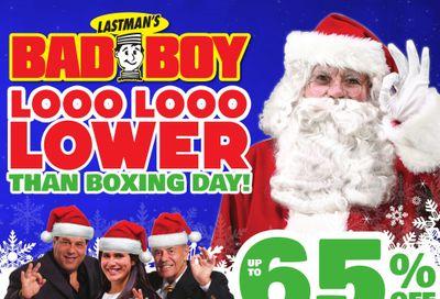 Lastman's Bad Boy Superstore Flyer December 10 to 23