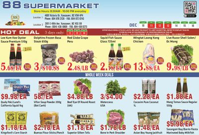 88 Supermarket Flyer December 10 to 16