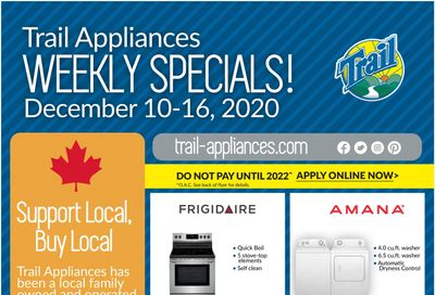 Trail Appliances (AB & SK) Flyer December 10 to 16