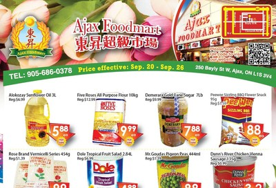 Ajax Foodmart Flyer September 20 to 26