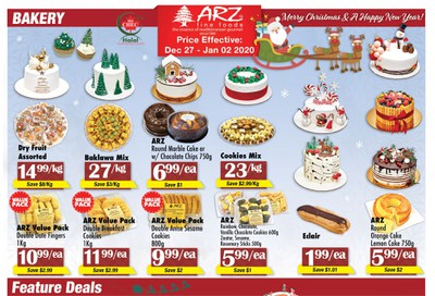Arz Fine Foods Flyer December 27 to January 2