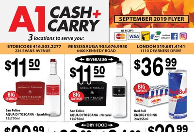 A-1 Cash and Carry Flyer September 1 to 30