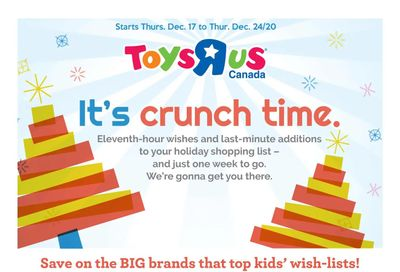 Toys R Us Flyer December 17 to 24