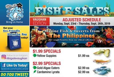Big Al's (Vaughan) Weekly Specials September 23 to 26