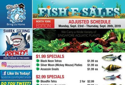Big Al's (North York) Weekly Specials September 23 to 26