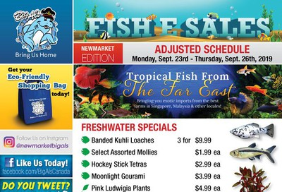 Big Al's (Newmarket) Weekly Specials September 23 to 26