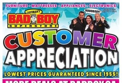 Lastman's Bad Boy Superstore Flyer September 19 to October 2