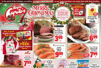 Angelo Caputo's Christmas Holiday Weekly Ad Flyer December 16 to December 29, 2020