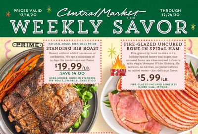 Central Market Christmas Holiday Weekly Ad Flyer December 16 to December 24, 2020