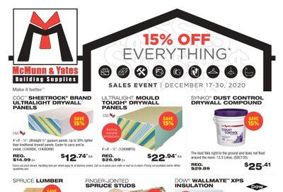 McMunn & Yates Building Supplies Flyer December 17 to 30