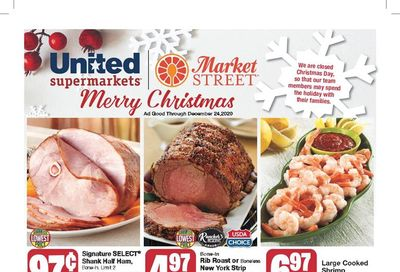 United Supermarkets Christmas Holiday Weekly Ad Flyer December 16 to December 24, 2020