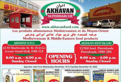Akhavan Supermarche Flyer December 16 to 22
