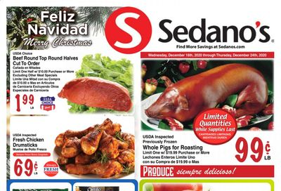 Sedano's (FL) Weekly Ad Flyer December 16 to December 24