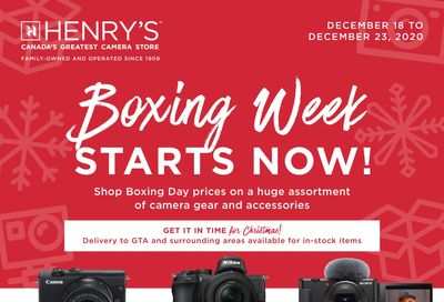 Henry's Flyer December 18 to 23