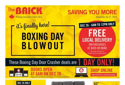 The Brick Boxing Day/Week Flyer December 21 to 31, 2020