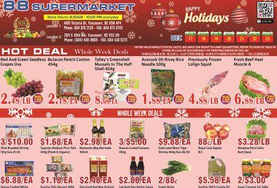 88 Supermarket Flyer December 17 to 23