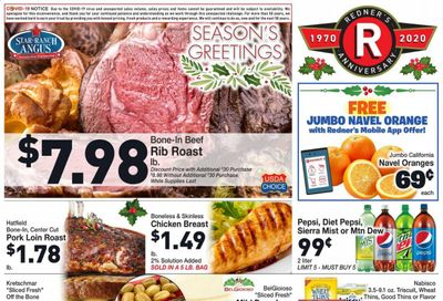 Redner's Markets Weekly Ad Flyer December 17 to December 24