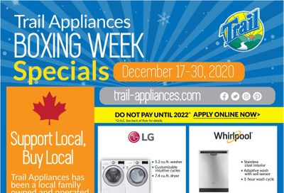 Trail Appliances (AB & SK) Flyer December 17 to 30