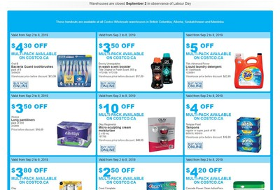 Costco (BC, AB, SK and MB) Weekly Savings September 2 to 8