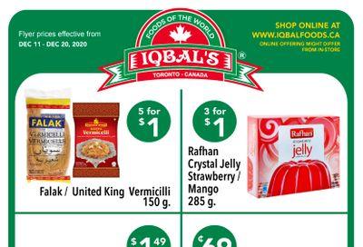 Iqbal Foods Flyer December 11 to 20