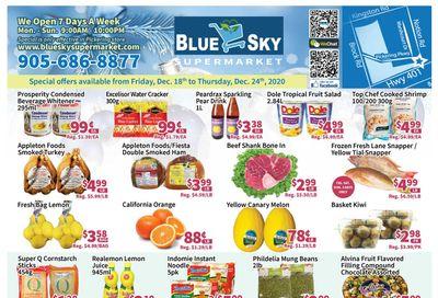 Blue Sky Supermarket (Pickering) Flyer December 18 to 24