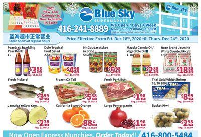 Blue Sky Supermarket (North York) Flyer December 18 to 24