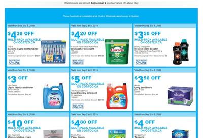 Costco (QC) Weekly Savings September 2 to 8