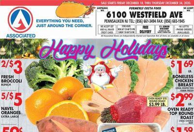Associated Supermarkets Weekly Ad Flyer December 18 to December 24