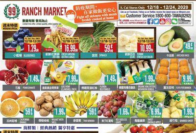 99 Ranch Market (CA) Weekly Ad Flyer December 18 to December 24