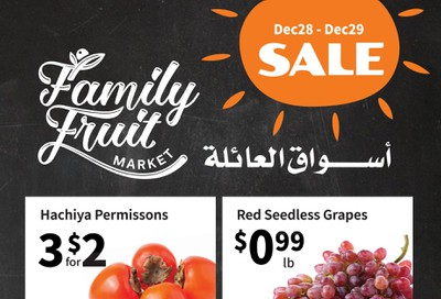 Family Fruit Market Flyer December 28 and 29
