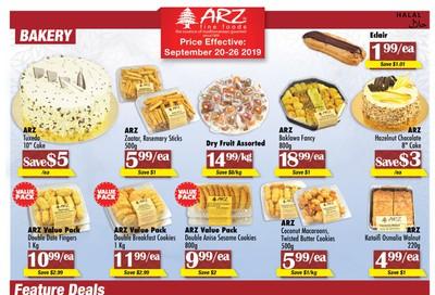 Arz Fine Foods Flyer September 20 to 26