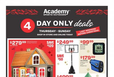 Academy Sports Weekly Ad Flyer December 17 to December 20
