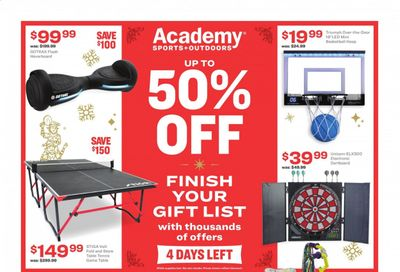 Academy Sports Weekly Ad Flyer December 21 to December 24