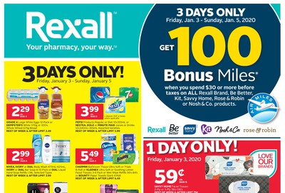 Rexall (West) Flyer January 3 to 9