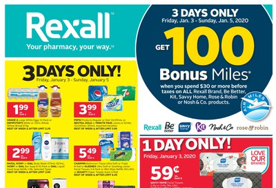 Rexall (ON) Flyer January 3 to 9