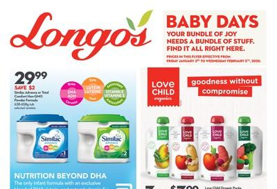 Longo's Baby Days Flyer January 3 to February 5